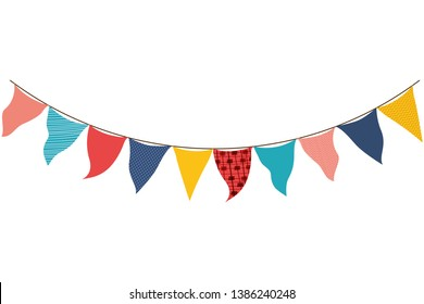 party garland hanging isolated icon