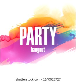 Party Hangout Colorful Splash Background Vector Image