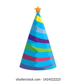party hat celebration icon vector illustration