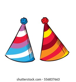 Party hat. Hand drawn vector illustration.