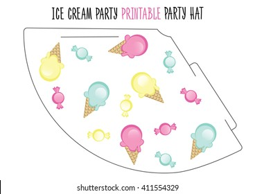 image relating to Party Hat Templates Printable identify Birthday Hat Template Photographs, Inventory Pics Vectors