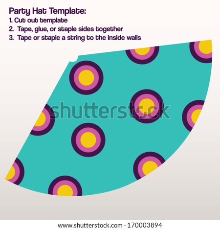 party hat template vector diy make stock vector royalty free