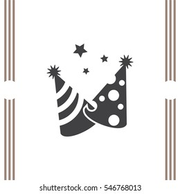 Party hat vector icon. Birthday surprise sign. Celebration cap symbol