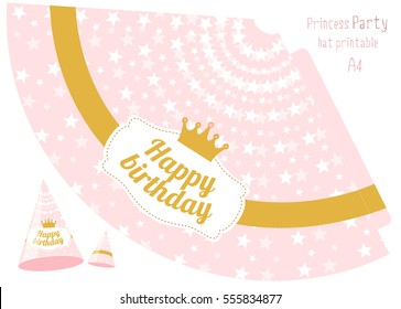 graphic about Party Hat Template Printable named Celebration Hat Printable Inventory Vectors, Pictures Vector Artwork
