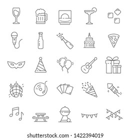 party icon. Set of party. vector illustration