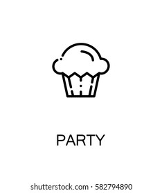 Party icon. Party single high quality outline symbol for web design or mobile app. Thin line sign for design logo. Black outline pictogram on white background