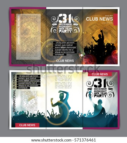 Party Information Brochure Layout Vector Stock Vector Royalty Free