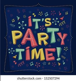 Party invitation. Vector illustration.