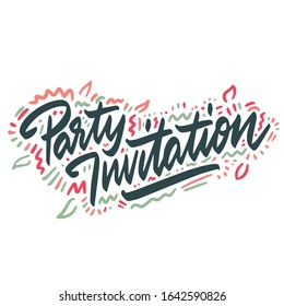 Party Invitation. vector illustration. poster, banner, greeting template - Shutterstock ID 1642590826