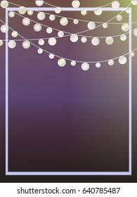 Party Lights Invite Template Navy & Gold