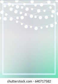 Party Lights Invite Template Pastel