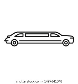 Party limousine icon. Outline party limousine vector icon for web design isolated on white background