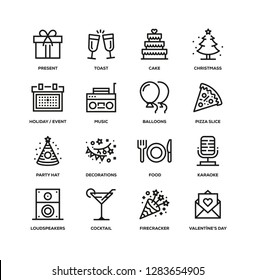 PARTY LINE ICON SET
