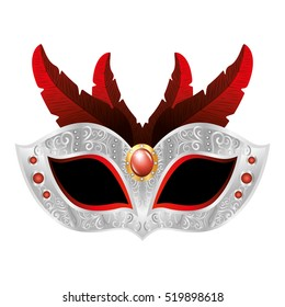 party mask fashion isolated icon