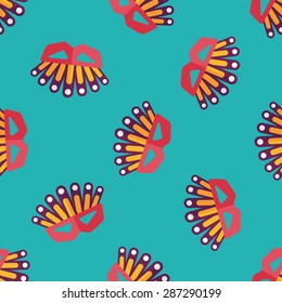 party mask flat icon,eps10 seamless pattern background
