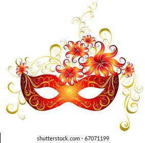 Party mask for masquerade. Vector.