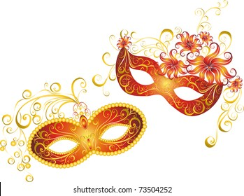 party mask for a masquerade. Vector