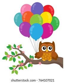 Party owl topic image 4 - eps10 vector illustration.
