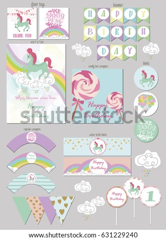 Party Package Magic Birthday Party Gift Stock Vector Royalty Free