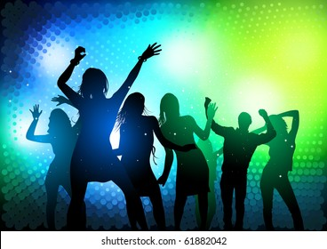 Party People Dancing - vector illustration