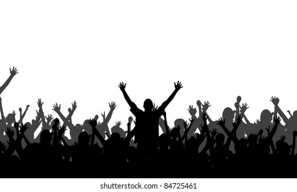 Party People Silhouettes - Vector Background