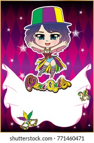 party poster of Mardi Gras  for Festival
