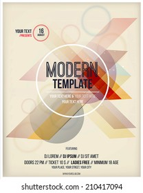 Party poster template. Vector