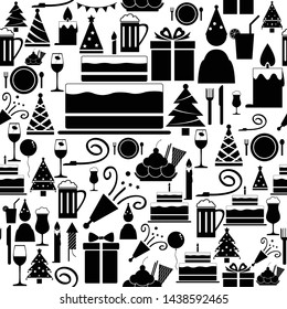 party seamless pattern background icon.