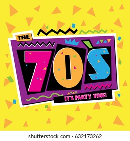 Party time The 70s style background. Vector illustration retro background