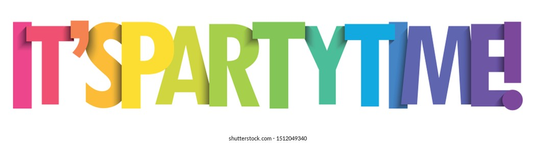 IT'S PARTY TIME! vector typography banner