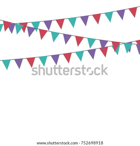 party triangle bunting flags hanging on stock vector royalty free