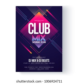 Party vector poster template design.
