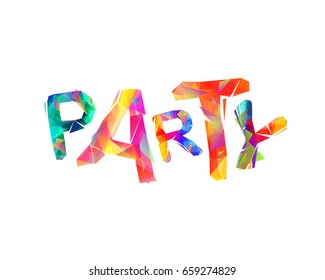 PARTY. Vector triangular word