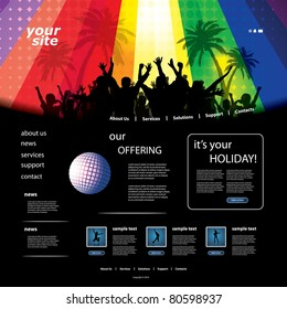 Party Website Template