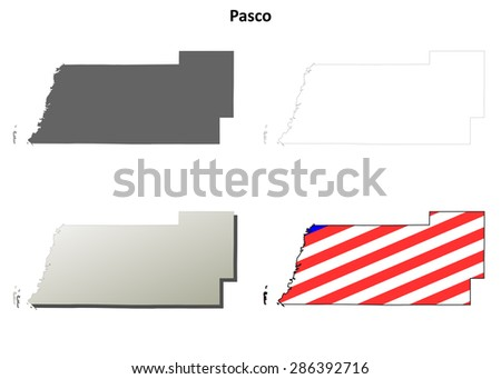 Map Of Pasco County Florida.Pasco County Florida Outline Map Set Stock Vector Royalty Free
