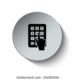 Pass code icon. Password icon. Security icon. Vector Illustration. EPS10