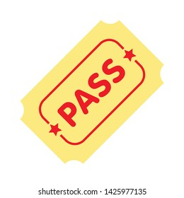 pass icon. flat illustration of pass vector icon for web