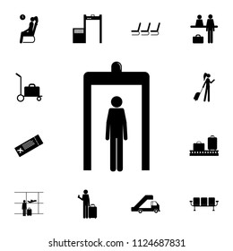 passage of a person through a metal detector icon. Detailed set of Airport icons. Premium quality graphic design sign. One of the collection icons for websites, web design, mobile on white background