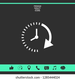 Passage of time icon. Graphic elements for your design