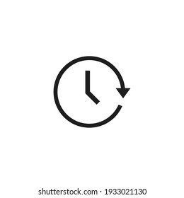 Passage of time icon vector. Simple clock sign