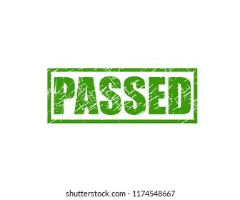 Passed green stamp