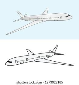 passenger aircraft, plane