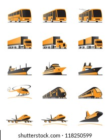 Passenger and cargo transportation - vector illustration