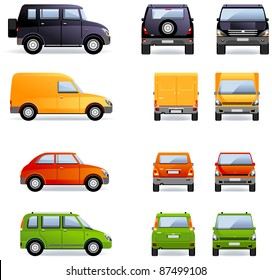 Passenger cars (Set #4). Set of the car icons in vector.