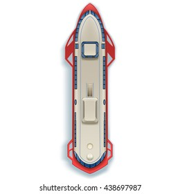 passenger hydrofoil on white background top view