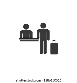 passenger registration icon. Element of airport icon. Premium quality graphic design icon. Signs and symbols collection icon for websites, web design, mobile app  on white background