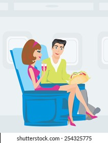 passengers in airplane