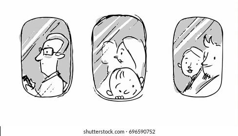 Airplane Seat Near Window Stock Vectors Images Vector Art