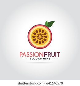 Passion Fruit fresh modern logo illustration