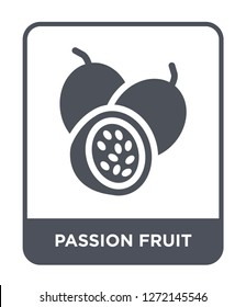passion fruit icon vector on white background, passion fruit trendy filled icons from Fruits and vegetables collection, passion fruit simple element illustration